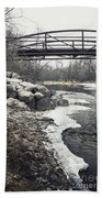 Icy River Beach Towel
