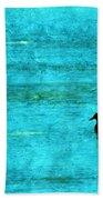 Icy Swim Beach Towel