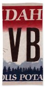 Idaho License Plate Beach Towel