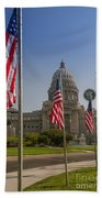 Idaho State Capitol In Boise Beach Towel