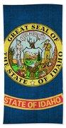 Idaho State Flag Beach Towel by Pixel Chimp