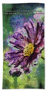 If Flowers Could Talk 04 Beach Towel