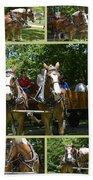 If You Love Belgian Horses Beach Towel