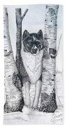 Ihasa In The Woods Beach Towel by Joette Snyder