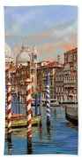 Il Canal Grande Beach Towel by Guido Borelli