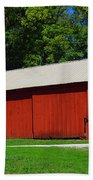 Illinois Red Barn Beach Towel
