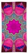 Illuminated Rose Beach Towel