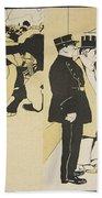 Illustration From Lassiette Au Beurre Beach Towel