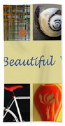 Image Mosaic - Promotional Collage Beach Towel by Ben and Raisa Gertsberg