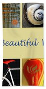 Image Mosaic - Promotional Collage Beach Towel
