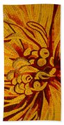Imagination In Hot Vivid Yellows Beach Towel
