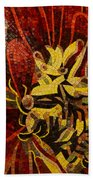 Imagination In Reds And Yellows Beach Towel