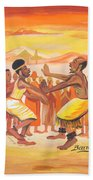 Imbiyino Dance From Rwanda Beach Towel