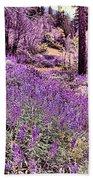 Img 4892_ Purple Lupine_ Yosemite National Park  Beach Towel