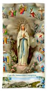 Immaculate Conception Beach Towel