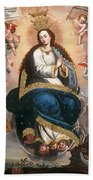 Immaculate Virgin Victorious Over The Serpent Of Heresy Beach Towel