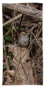 Immature White-throated Sparrow Beach Towel