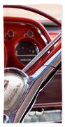 Red Belair With Dice Beach Towel