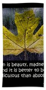 Imperfection Beach Towel