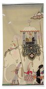Imperial Procession Beach Towel by Georges Barbier