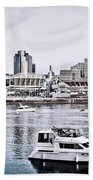 Implosion Of River Front Stadium Beach Towel