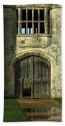 Imposing Front Door Of Titchfield Abbey Beach Towel
