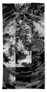 Impossible Reflections B/w Beach Towel
