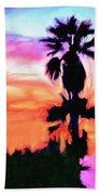 Impression Desert Sunset V2 Beach Towel