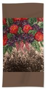Impression Flowers Beach Towel