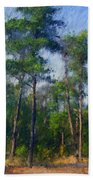Impression Trees Beach Towel