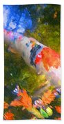 Impressionism  Koi 2 Beach Towel