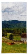 Impressionist Farming Beach Towel