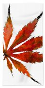 Impressionist Japanese Maple Leaf Beach Towel
