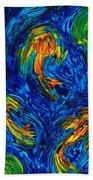 Impressionist Koi Fish By Sharon Cummings Beach Sheet