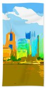 Impressionist Pittsburgh From The North Side Beach Towel