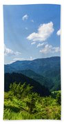 Impressions Of Mountains And Forests And Trees Beach Towel