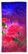 Impressions Of Pink Carnations Beach Towel by Joyce Dickens