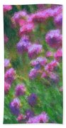 Impressions Of Purple Beach Towel