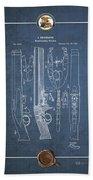 Improvement To Muzzle-loading Fire-arm - Vintage Patent Blueprint Beach Towel