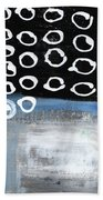 In Circles 2-abstract Painting Beach Towel