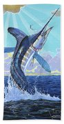 In Contention Off0049 Beach Towel by Carey Chen