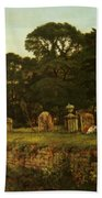 In Country Churchyard Wittington Worcester Beach Towel