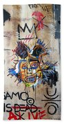 In Memory Basquiat Beach Towel
