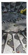 In Memory Of John Lennon - Imagine Beach Towel