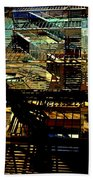 In Perspective - Fire Escapes - Old Buildings Of New York City Beach Towel