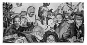 In Praise Of Jazz V Beach Towel