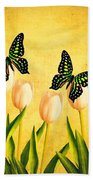 In The Butterfly Garden Beach Towel
