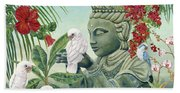 In The Company Of Angels Beach Towel