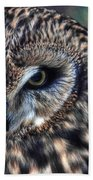 In The Eyes Of The Owl Beach Towel