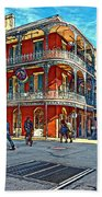 In The French Quarter Painted Beach Towel